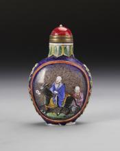 Chinese Enameled Peking Glass Snuff Bottle