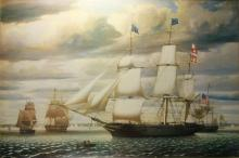 Framed Ship Poster