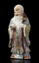 Chinese Famille Rose Shoulao Figure