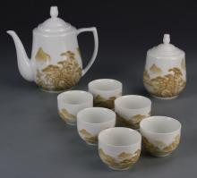 Chinese Eight Piece Mao Tea Set