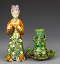 Two Chinese Pottery Pieces