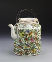 Chinese Export Rose Medallion Teapot