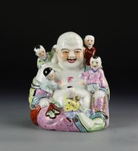 Chinese Antique Famille Rose Buddha