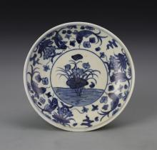 Chinese Antique Blue and White Plate