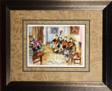Watercolor of Party Scene