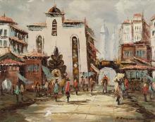 Oil on Canvas of Street