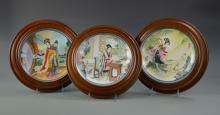 Three Chinese Porcelain Plates