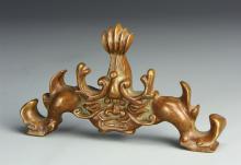 Chinese Bronze Brush Rest