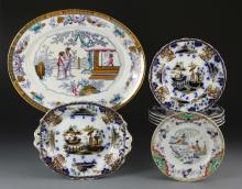 Chinese Set of Eight Porcelain Plates