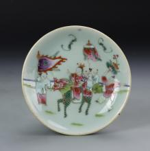 Chinese Famille Rose Expatriate Plate