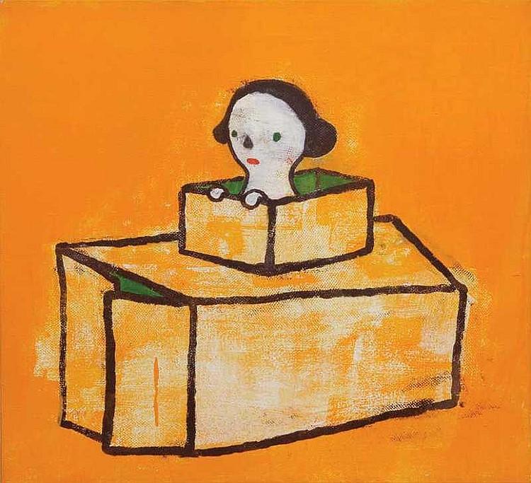 ARTIST: Yoshitomo Nara(1959-) TITLE: Cardboard