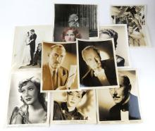 Collection of Ten (10) Movie Star Studio and Related Photos. Measures 8 Inches by 10 Inches. Shipping $20.00