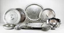 Box Lot of Assorted Pewter Items. Shipping $50.00