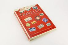 Traveler Stamp Album with Worlwide Stamps. Shipping $20.00