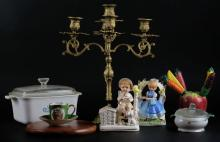 Box Lot Of Porcelain and Glass Figurines. Shipping $60.00