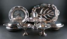 Seven (7) Silverplate Items. Good Condition. Shipping $125.00