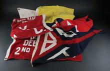 Seven (7) Miscellaneous Sailboat Flags. Condition Varies. Shipping $20.00