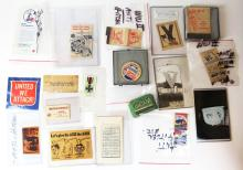 Eighteen (18) Piece Collection of WWII American Propaganda, Anti-Hitler and War Bond Memorabilia. Shipping $20.00