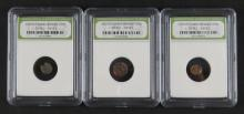 Three (3) Ancient Greek Bronze Coin Circa 300BC - 100BC encased in Plastic Holder. These Coins ARE NOT Professionally Graded, We DO NOT Grade Coins, Please See Photos and/or Information to Make your Own Value Judgment as to the Condition of these Coins. S