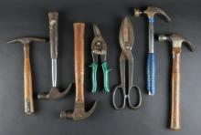 Miscellaneous Box Lot of Mostly Hammers And Other Tools. Shipping $30.00