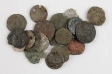 Collection of Twenty (20)  Ancient Roman, Greek and Ottoman Coins. Six (6) are Silver. Shipping $20.00