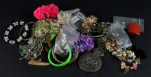 Miscellaneous Costume Jewelry Tray Lot. Shipping $20.00