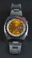 Vintage Single Register Men's Seiko Chronograph Wrist Watch. Well Used Condition. The Gallery does Not warranty the running condition of watches. Shipping $20.00