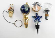 Collection of Five (5) Bottle Stoppers. Shipping $20.00