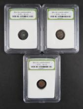 Three (3) Biblical Judean Nummis Circa 50AD - 100AD encased in Plastic Holder. These Coin ARE NOT Professionally Graded, We DO NOT Grade Coins, Please See Photos and/or Information to Make your Own Value Judgment as to the Condition of these Coins. Shipping $20.00