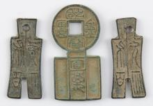 Three (3) Antique Chinese Bronze Currency. Shipping $20.00