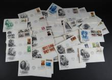 Approximately Fifty (50)  First Day Covers. Mostly Early 1980's. Generally Good Condition or Better. Shipping $20.00