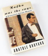 Kafka Was the Rage : A Greenwich Village Memoir Hard Cover Book by Anatole Broyard. Measures 8-1/2 Inches by 5-3/4 Inches. Shipping $20.00