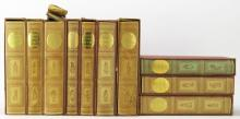 Ten (10) Cased Charles Dickens Book by the Heritage Press. Spines Faded. Shipping $65.00