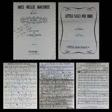 Collection of John Frederick Coots American-New York (1897-1985) Hand Signed Sheet Music. Average Measures 12 Inches by 9 Inches. Shipping $20.00