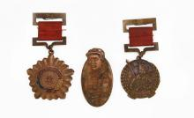 Three (3) Chinese Cultural Revolution Period Medals, Awards. Shipping $20.00