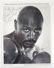 Autographed 1988 Marvelous Marvin Hagler Photo. Dated 1988. Measures 11 Inches by 8-1/2 Inches. Shipping $20.00