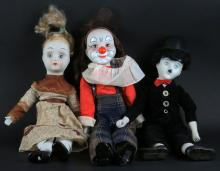 Lot of Porcelain Dolls. I See One (1) Leg Loose. Condition Varies. Shipping $45.00