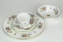Forty-Two (42) Piece English Minton Bone China Partial Dinner Service