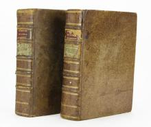 Two (2) Volumes Histoire de La Societe Royale de Medecine 1782. Good Condition. Measures 10-1/2 Inches by 8-3/8 Inches. Shipping $45.00