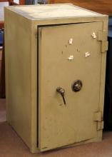 Large Vintage National Safe. Has Original Interior Key and we Have Combination which will be Given to High Bidder. We will not ship this item due to its size. We will happily recommend a list of outside vendors upon request.