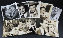 Audie Murphy and his Son Terry Movie Star Studio Photo together with Four (4) Myrna Loy Movie Star Studio Photos and Three (3) William Holden Movie Star Studio Photos together with Three (3) Photographs and a Blurb