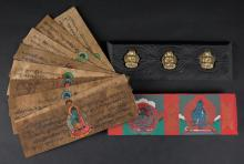 Antique Hand Painted and Calligraphy Buddhist Bible Manuscripts. Good Condition. Measures approximately 11 Inches by 3 Inches. Shipping $20.00