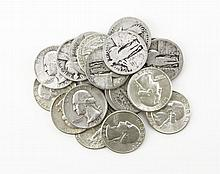 Twenty (20) 1950s-1960s U.S. Silver Liberty Quarter Dollars. These Coins are NOT Professionally Graded, We DO NOT Grade Coins, Please See Photos and/or Information to Make your Own Value Judgment as to the Condition of this Coin. Shipping $20.00