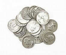 Twenty (20) 1950s-1960s U.S. Silver Washington Quarter Dollars. These Coins are NOT Professionally Graded, We DO NOT Grade Coins, Please See Photos and/or Information to Make your Own Value Judgment as to the Condition of this Coin. Shipping $20.00