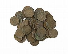 Forty-Nine (49) U.S. Wheat Pennies. These Coins are NOT Professionally Graded, We DO NOT Grade Coins, Please See Photos and/or Information to Make your Own Value Judgment as to the Condition of this Coin. Shipping $20.00