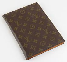 Small Louis Vuitton Note Pad Size Folio. Used Condition. Measures 7-5/8 Inches by 8-3/8 Inches. Shipping $20.00