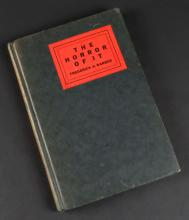 The Horror of it Camera Records of War's Gruesome Glories Hardcover Book by Frederick A. Barber. Brewer, Warren & Putnam, New York, 1932. Measures 7-5/8 Inches by 5-1/4 Inches. Shipping $20.00