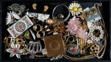 Miscellaneous Lot of Costume Jewelry, Mostly Necklaces but has Related Items as well. Many Signed. Good Condition. Shipping $20.00