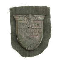Circa 1943 German WWII Kuban Shield. Gallery Does Not Guarantee the Authenticity of this Item. Measures 2-1/2