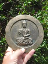 Chinese bronze mirror Buddha on lotus flower, Rare